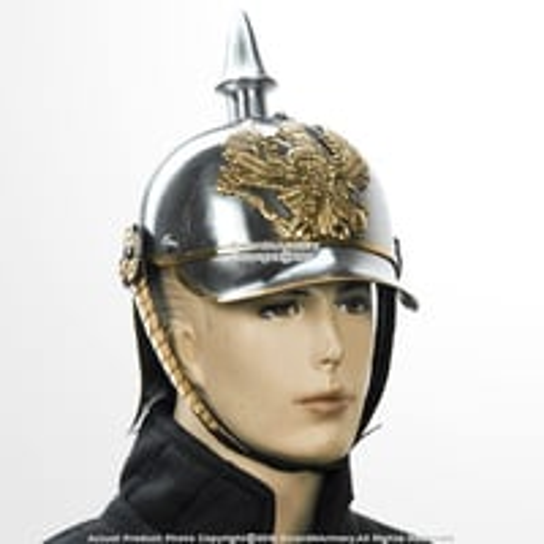 B016cejft4 Wwi Wwii German Pickelhaube Helmet Prussian Officer Spike Helm W/brass Buckle