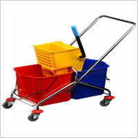 Double Buckete Wringer Trolley 30 Liter