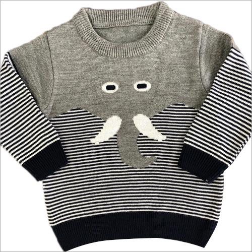 Kids Round Neck Woolen Sweater