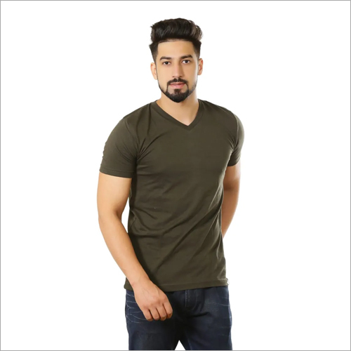 Mens V Neck Casual T-Shirt