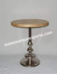 Aluminum Table With Wooden Top