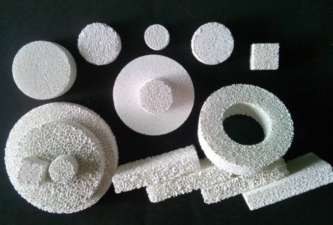 Alumina Ceramic Foam Filter with Expandable Sealing Gasket