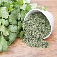 Dehydrated Coriander Leaves.
