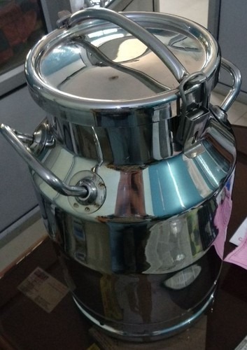 SS MILK CAN WITH LOCKING LID