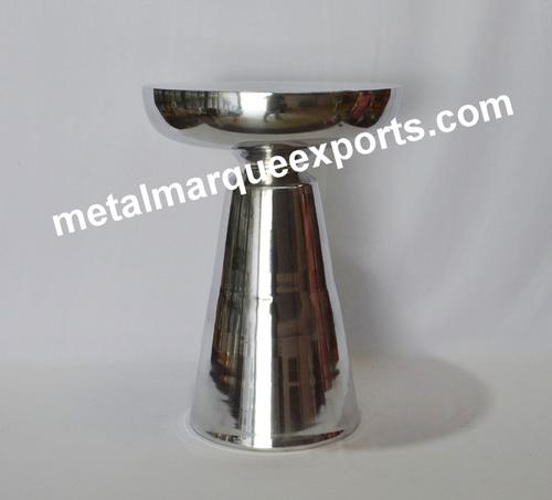 Aluminum Shining Polish Bar Stool