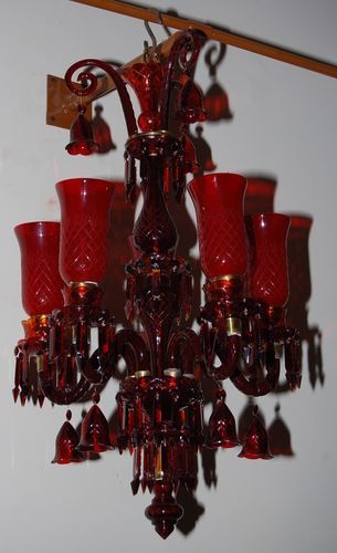 Red Chandeliers