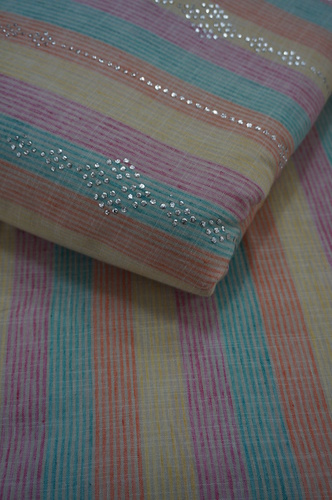 cotton lining mukaish work