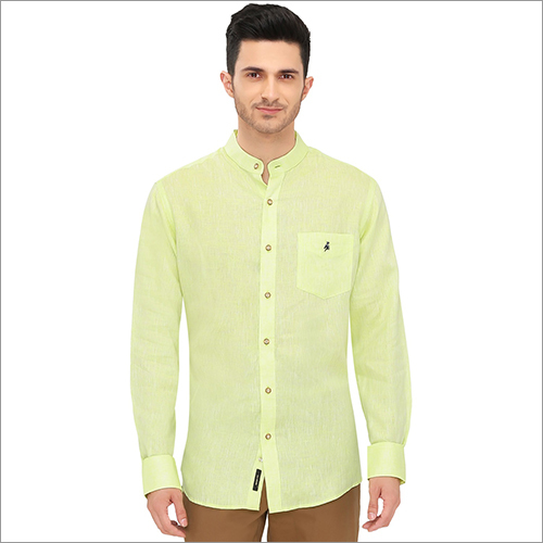 Mens Chinese Collar Plain Shirt