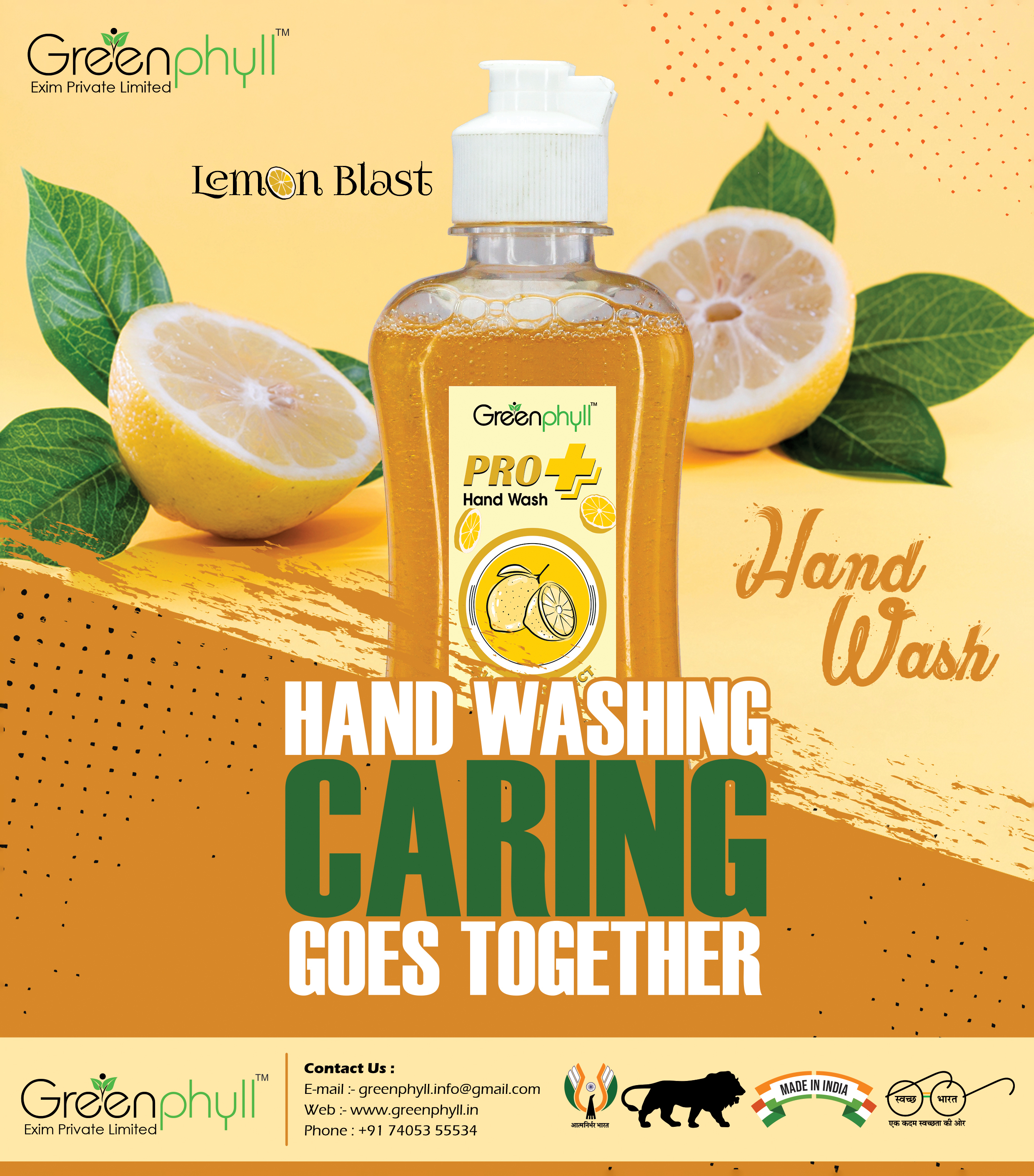 Greenphyll Lemon Blast Hand Wash