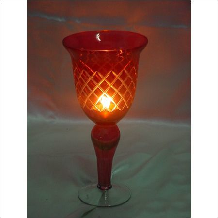 Red Antique Glass Cutting