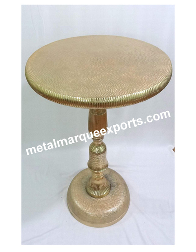 Metal Gold Plated Round Bar Table