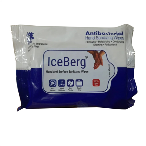 Ice Berg Hand And Sanitizing Wipes