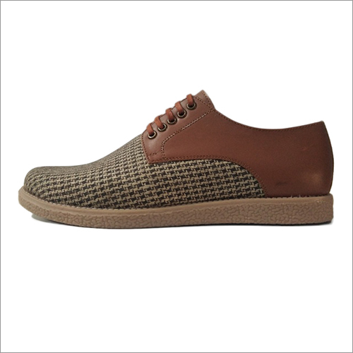 Leather And Canvas Casual Shoes