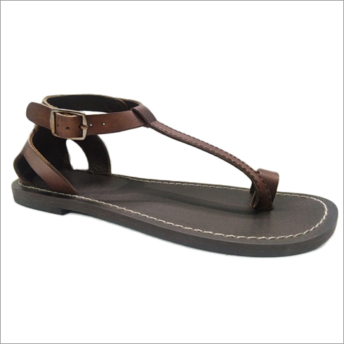 Ladies Leather Flat Sandal