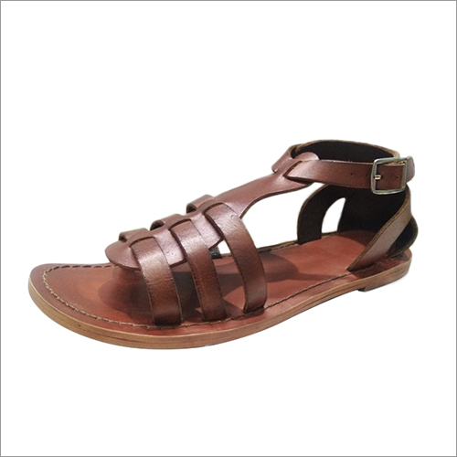Ladies Brown Leather Sandal