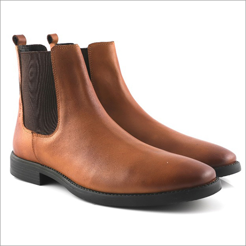 Tan Color Leather Chelsea Boot