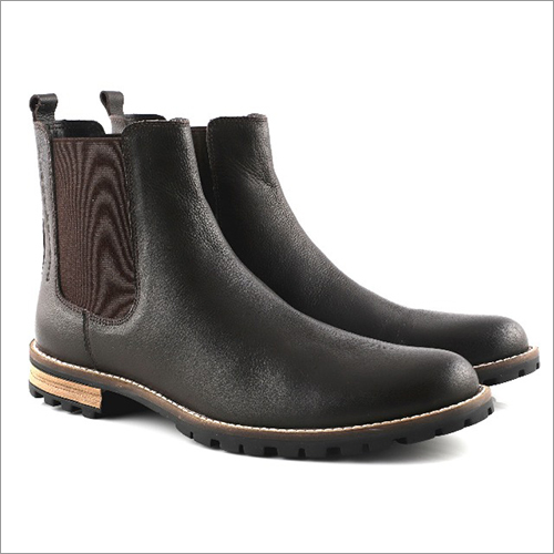 High Ankle Leather Chelsea Boot