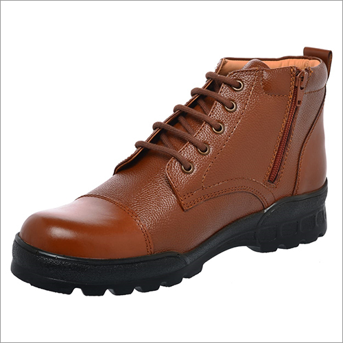 Brown Leather Police Boot