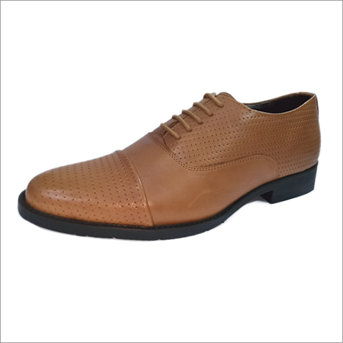Tan Color Leather Formal Shoes