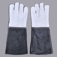 Leather Gauntlets Hand Gloves for Welders