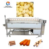 High Pressure Spray Potato Washing Polishing Machine