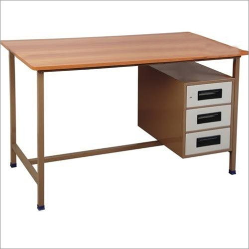 Steel Study Table With Drawer