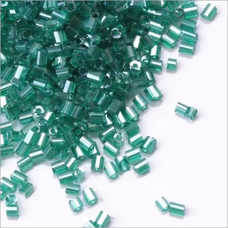 Transparent Cut Dana Glass Beads