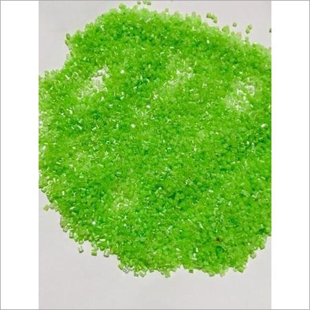 Transparent Parrot Green Cutdana Glass Beads