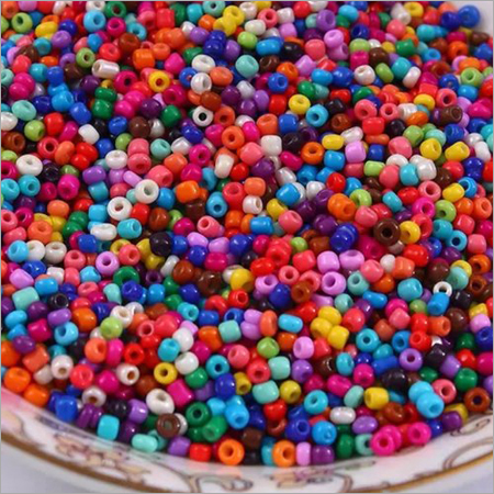 Multicolour Round Glass Beads