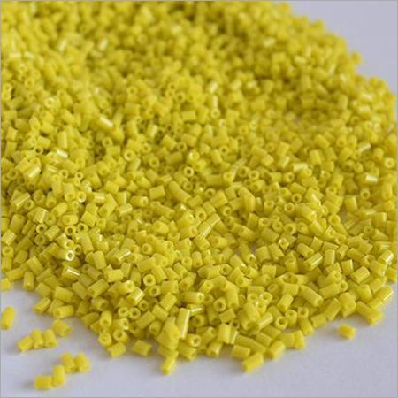 Opaque Yellow Cutdana Glass Beads
