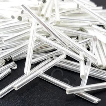 White Bugle Glass Beads