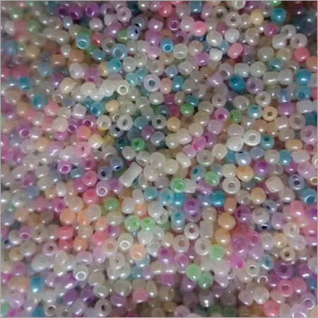 Light Multicolour Round Glass Beads