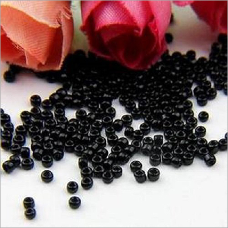 Black Round Glass Seed Beads