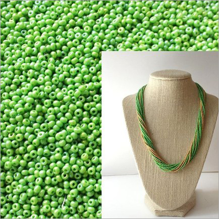 Luster Green Glass Seed Beads
