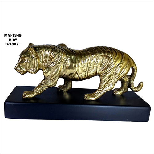 Brass Big Cat Statue