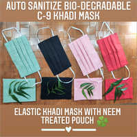 Auto Sanitize Bio Degradable C-9 Khadi Mask