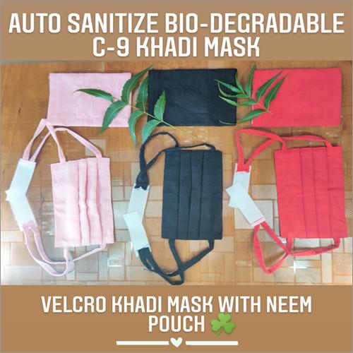 Velcro Khadi Mask With Neem Pouch