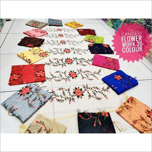 Chanderi Flower Work Dupatta