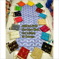 Net Colour Work Dupatta