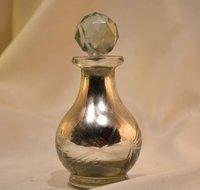 Silver Perfume Bottle, Scent Bottle,Glass Perfume Bottle