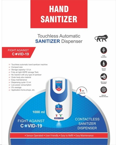Dabhand Electric Automatic Sanitizer Dispenser Machine Speed With Smart Sensor Wall Mounted With