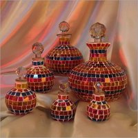 Glass Mosaic Decanter With Stopper Small To Large Size