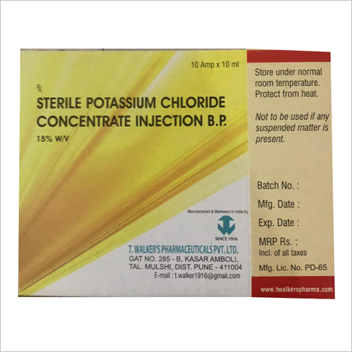 Sterile Potassium Chloride Concentrate Injection