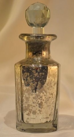 Silver Perfume Bottle & Decanter Material: Glass