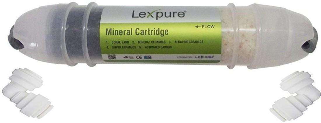 Lexcru Multistage Antioxidant Alkaline Antibacterial RO Mineral Cartridge Kit, 8-inch, Transparent