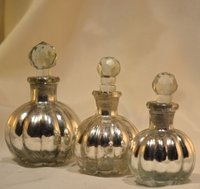 Silver Glass Perfume Bottle And Decanter, Reed Diffuser,Decorative Perfum