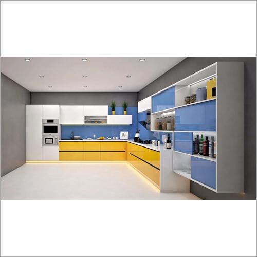 High Gloss Laminate Modular Kitchen