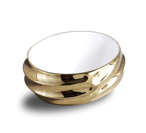 Golden Ceramic Wash Basin