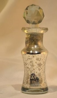 Golden Silver Cutting Perfume Bottle And Decanter,Stylish Perfume Bottle