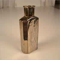 Golden Silver Glass Perfume Decanter Bottle